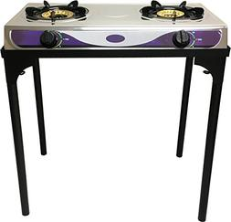1 Heavy Duty Double Burner Propane Gas Stove Outdoor Cooking