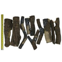 10 Pieces Ceramic Wood Logs for Ethanol Gas Fireplace Stoves