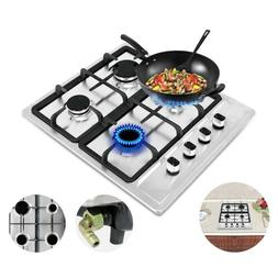 """23.2"""" Cooktops Stainless Steel Built-in 4 Burners Stoves Hob"""