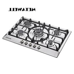 "30"" Natural GAS Cooktops w/ 5 Burner Stove Stainless Steel C"