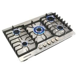 "30""Stainless Steel 5 Burner Built-in Stoves LPG/NG Gas Cookt"