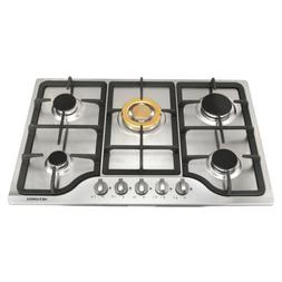 "30"" Stainless Steel Built-in 5 Gas Stoves Natural Gas Hob Co"