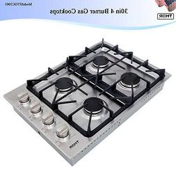 30in 4 Burner Gas Cooktops Stainless Steel Built-in / High P