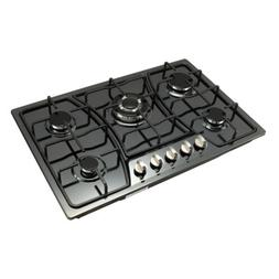 30inch Titanium Stainless Steel 5 Burners Cooktop Built In S