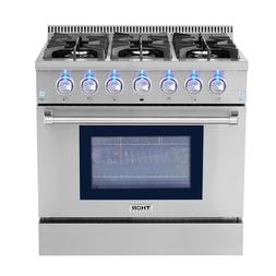 "Thor Kitchen 36"" Dual Fuel Range Stove oven Stainless Steel"