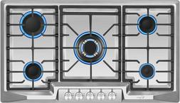 "Empava 36"" Stainless Steel 5 Italy Sabaf Burners Stove Top G"