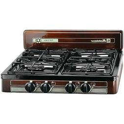 Portable Propane Gas Stove 4-Burner Outdoor Camping Cooking