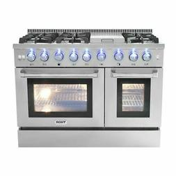 """48"""" Ranges & Stoves 6 Burner Gas Range With Double Oven and"""