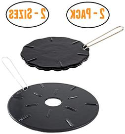 Cast Iron Heat Diffuser Plate - Flame Reducer – 2 Pack –