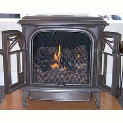 Superior Cast Iron Stove with Vent Free Burner in Natural Ir