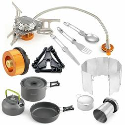 Cooking Sets Camping Stoves Stainless Ultralight Gas Burner+