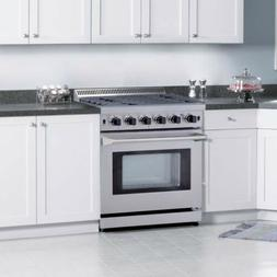 """Cooktop Stove 30"""" Gas Range 5 burner with oven Stainless Ste"""