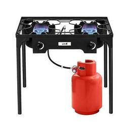 Double 2 Burner Gas Propane Cooker Outdoor Camping Picnic St