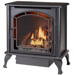Duluth Forge DF25SMS Dual Fuel Vent Free Gas Stove, Black