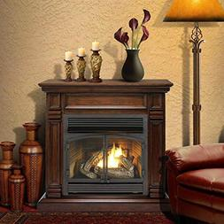 Duluth Forge Dual Fuel Ventless Fireplace-32,000 BTU, Remote