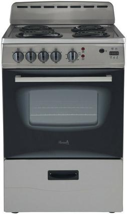 Avanti ER24P3SG 24in Electric Stove Stainless Steel