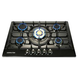 Fashion Gold 30 Inch Stainless Steel 5 Burner Built-In Stove
