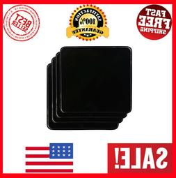 New Gas Burner Covers Square Kitchen Home Stove Top Set of 4