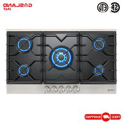 Gas Cooktop, Gasland chef GH90BF 36'' Built-in Gas Stove Top