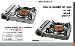 InfraRed Ceramic Portable Gas Stove WITH free can of gas.