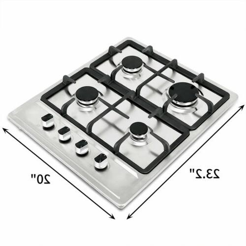 """23.2"""" Stainless Built-in Hob Gas"""