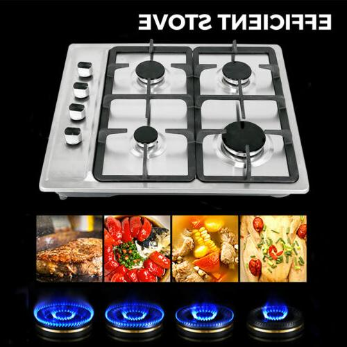 """23.2"""" Cooktops Stainless Built-in Stoves Hob"""