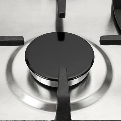 """30"""" Natural Cooktops w/ 5 Stove Stainless Steel"""