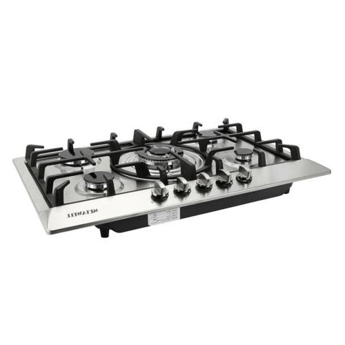 """30"""" Cooktops w/ 5 Burner Stainless"""