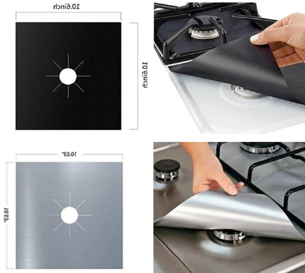 4 Stove Top Reusable Liner Cover