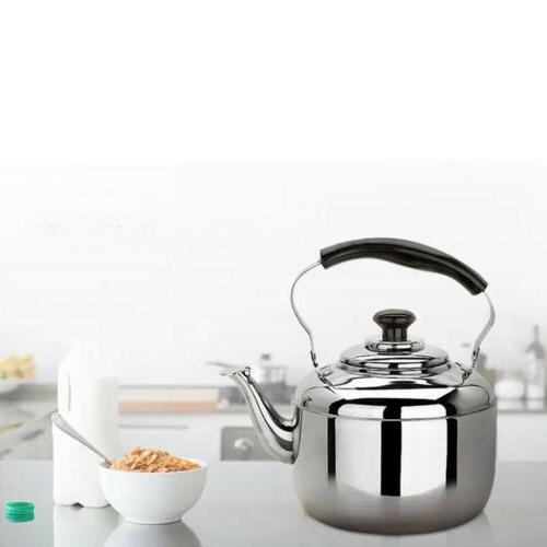 4L Stainless Steel Whistling Kettle Kitchen Stove Top/Induct