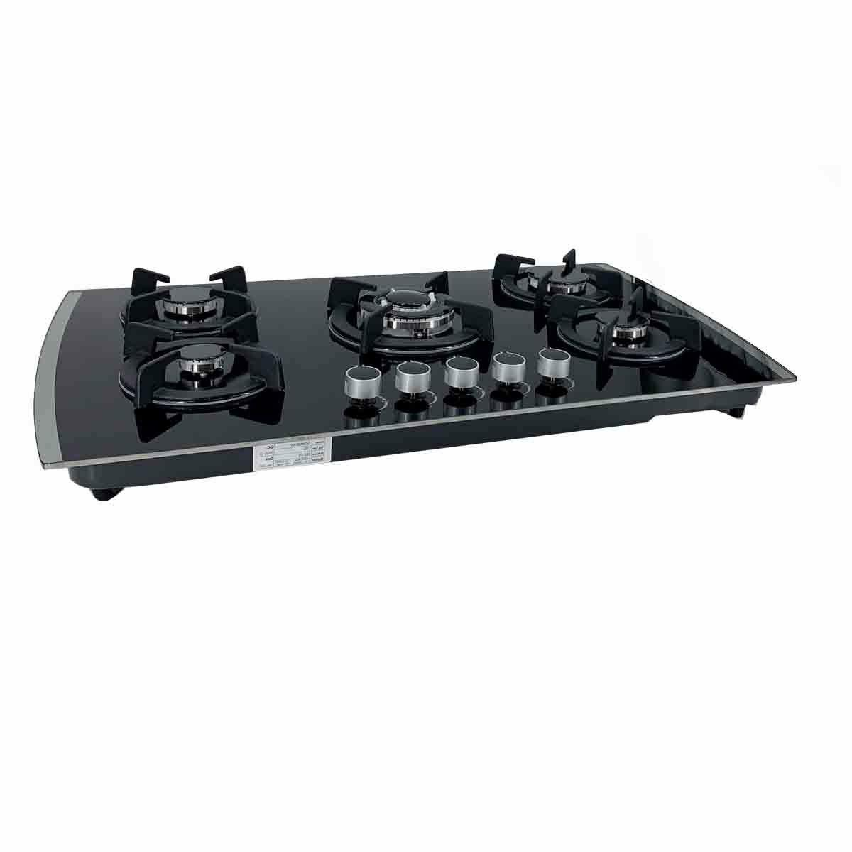 5 Burners Built-In Cooktop NG/LPG Tempered Countertop Gas 30Inch