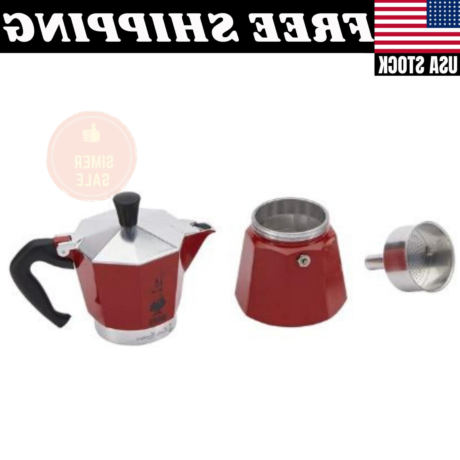 Bialetti, Moka Color 6 Cup, Red