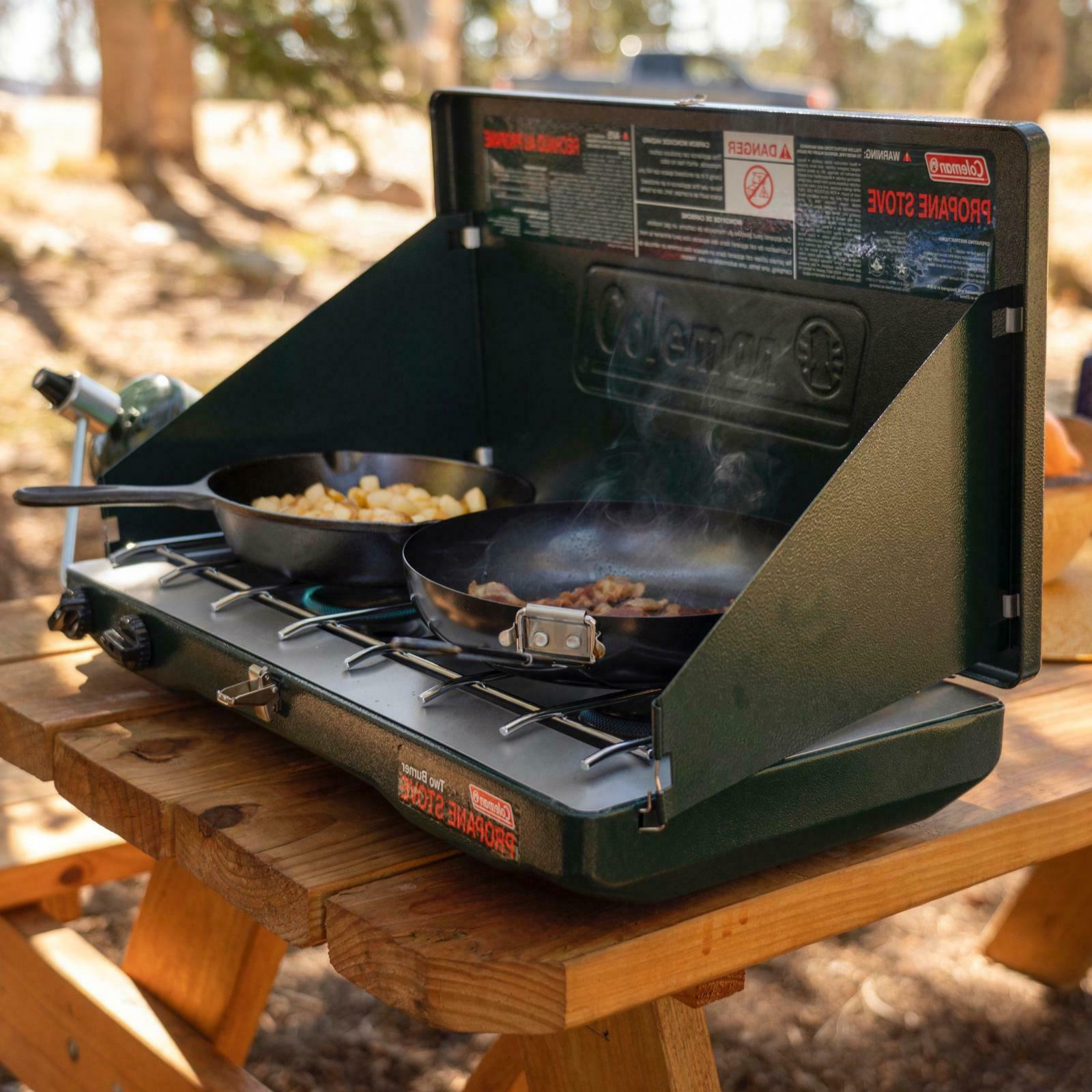 camp stove propane 2 burner outdoor camping