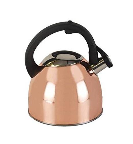 Copco 5226114 Copper Plated Stainless Steel Tea Kettle, 2.5-