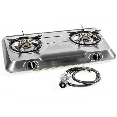 2 burner cook top stainless steel portable