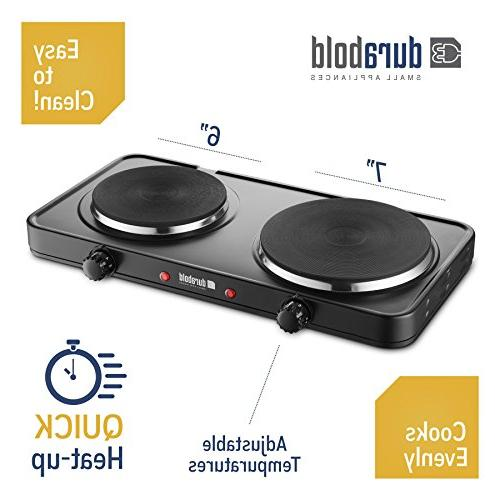 Durabold Kitchen Countertop Double - Stainless Steel Body Sealed Burners RV, Apartments, Camping, Cookery Demonstrations, or as an
