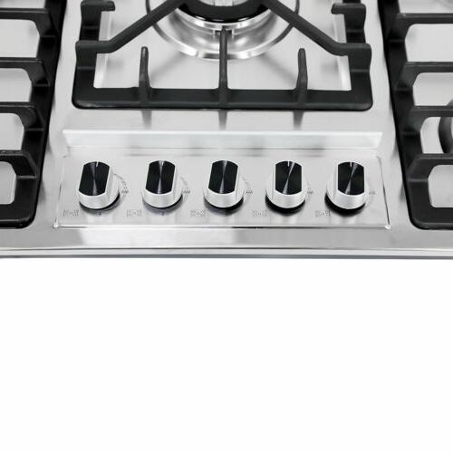 New Stainless Steel Cooktop Built-in Natural Gas 5