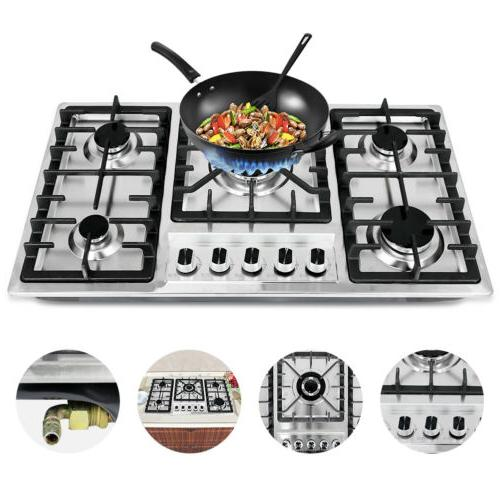 new 33 8 stainless steel cooktop built
