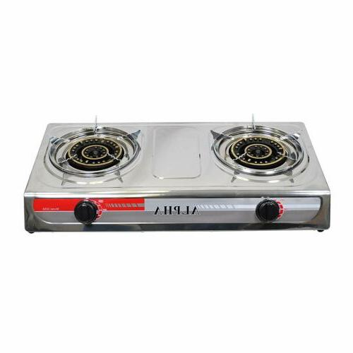 NEW BURNER OUTDOOR CAMPING PORTABLE GAS STOVE
