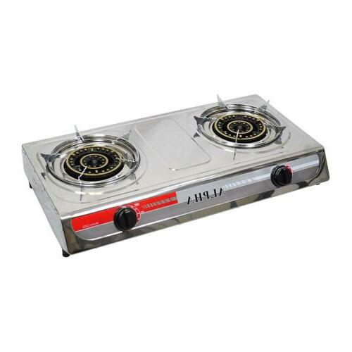 new double head burner outdoor camping portable