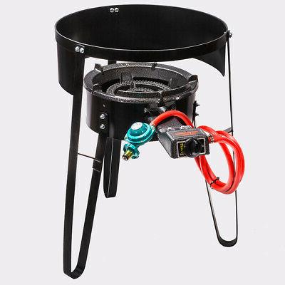 Outdoor Propane Gas Stove with Portable Stand BBQ Camping Ta