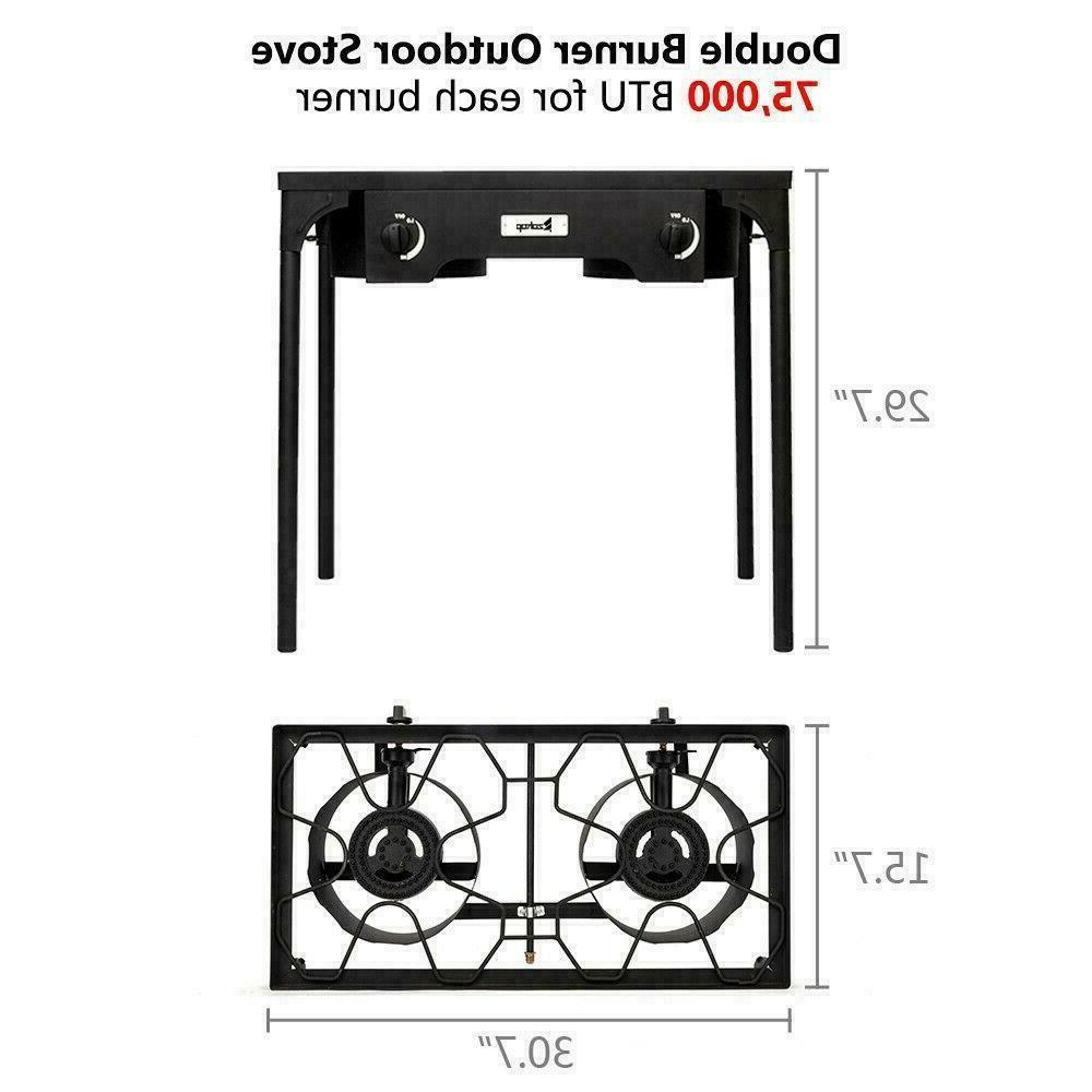 Propane Double 2 Burner Stand Stove Outdoor Grill