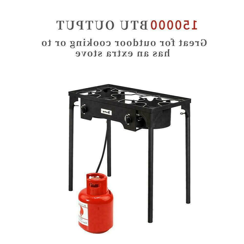 2 Gas Stand Stove Grill