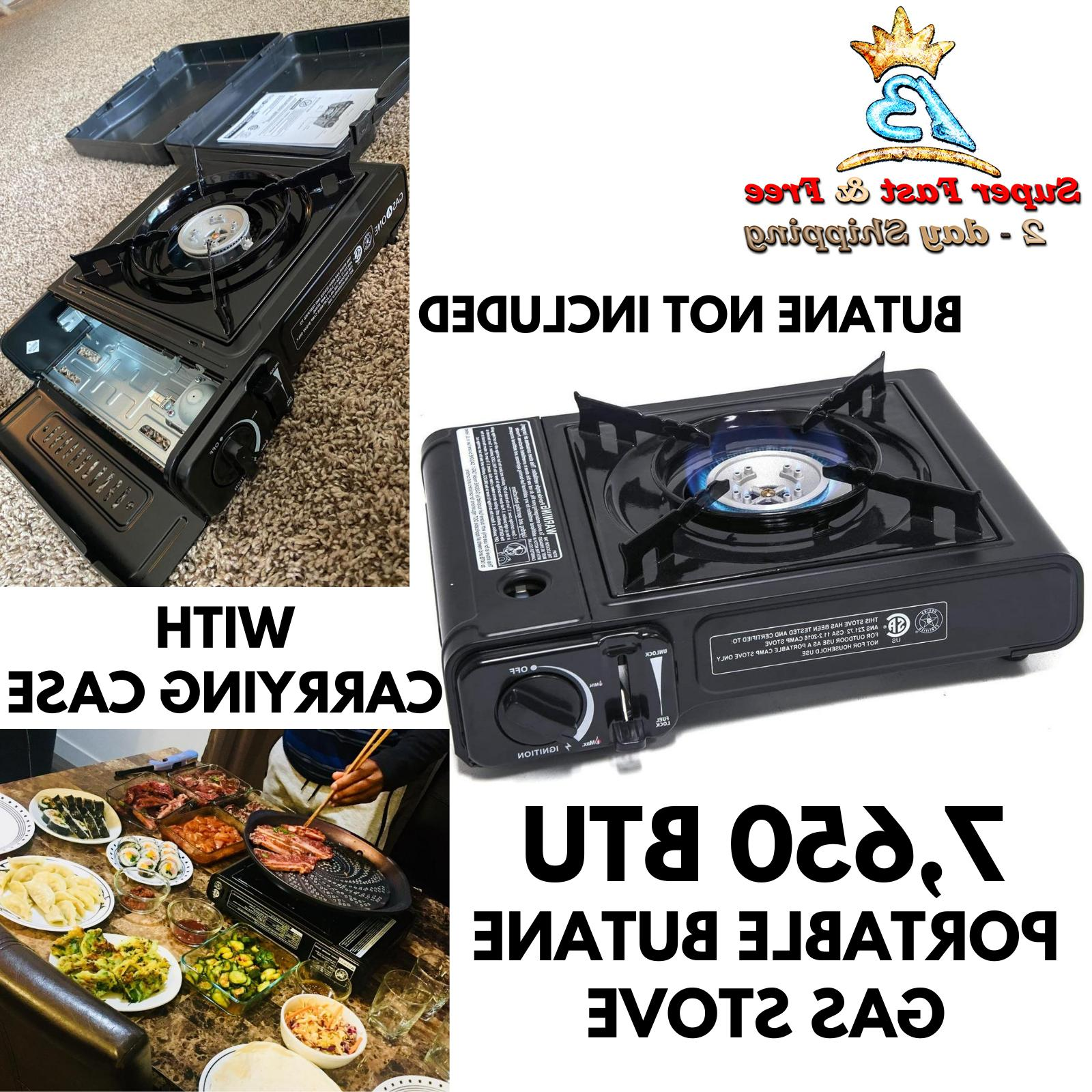 Table Top Portable Butane Gas Stove Burner With Case For Kor