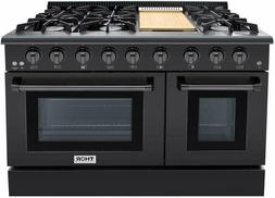 NIB Thor Kitchen 48 Inch BS 6 Burner Professional Double Ove