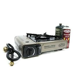 Portable Dual Fuel Stove Propane Butane Camping Gas Stoves B