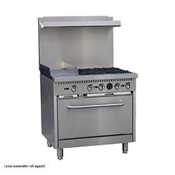 """Comstock Castle R6-12 36"""" Wide Gas Range with Four Burners &"""