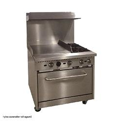 """Comstock Castle R6-24 36"""" Wide Gas Range with Two Burners &"""