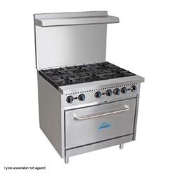 """Comstock Castle R6 36"""" Wide Gas Range with Six Burners"""