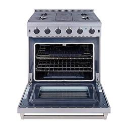 "Thor Kitchen 30"" Stainless Steel Gas Range Oven with 5 Burne"